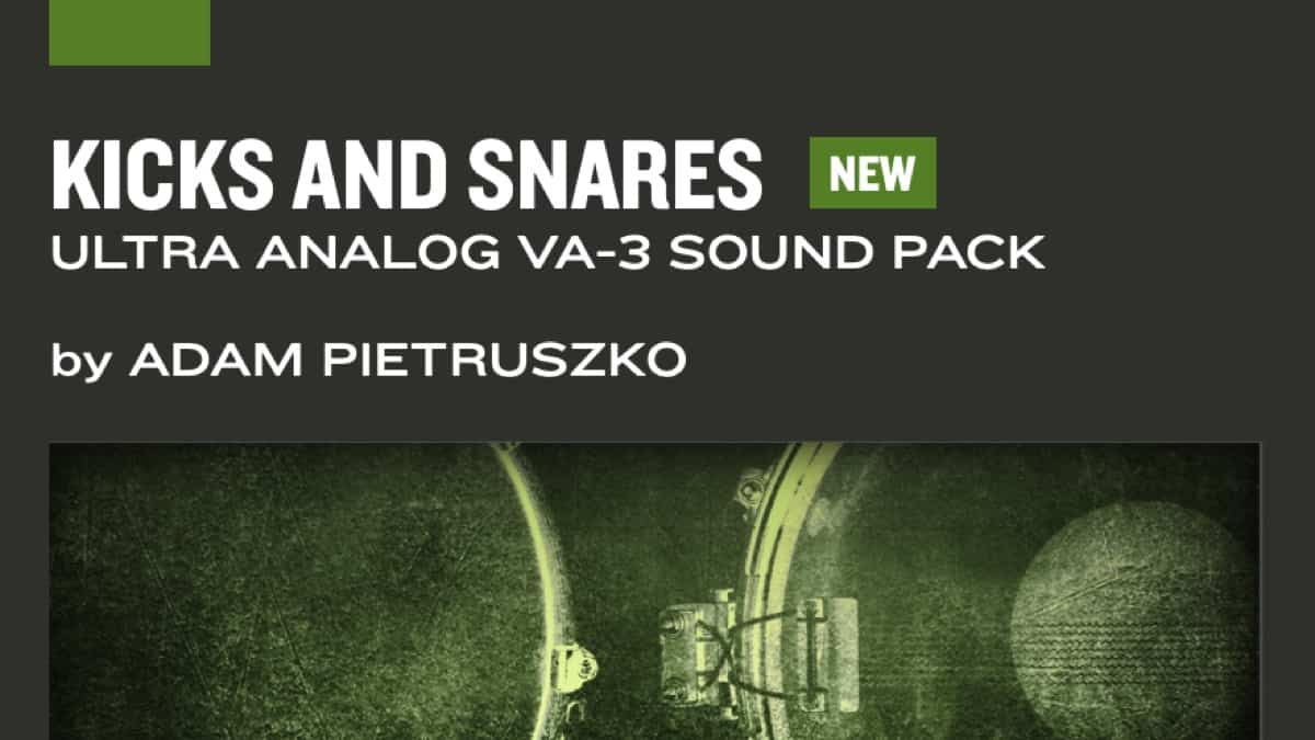 Applied Acoustics Systems Releases the Kicks and Snares Sound Pack for the Ultra Analog VA-3 and AAS Player Plug-ins